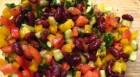Вкусный и полезные салат с красной фасолью